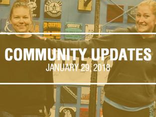 Community Updates January 29, 2018