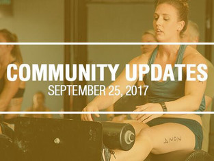 Community Updates September 25, 2017