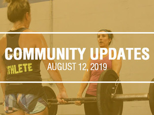 Community Updates - Aug 12th, 2019