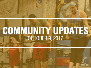 Community Updates October 9, 2017