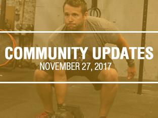 Community Updates November 27, 2017