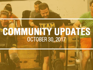 Community Updates October 30, 2017