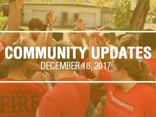 Community Updates December 18, 2017
