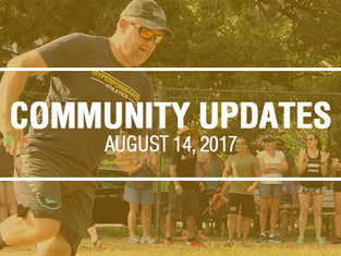 Community Updates August 14, 2017