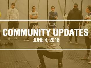 Community Updates June 4, 2018