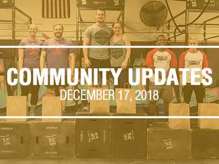 Community Updates - December 17th, 2018