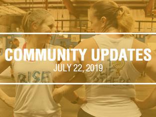 Community Updates - July 22nd, 2019