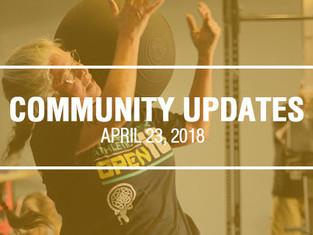 Community Updates April 23, 2018