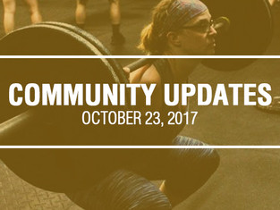 Community Updates October 23, 2017