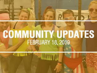 Community Updates - February 18th, 2019