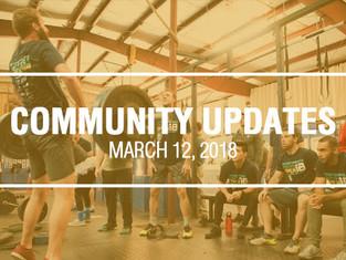 Community Updates March 12, 2018