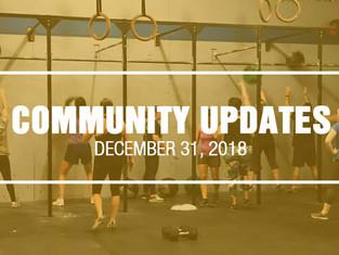Community Updates - December 31st, 2018