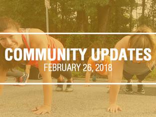 Community Updates February 26th, 2018