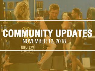 Community Updates - November 12th, 2018