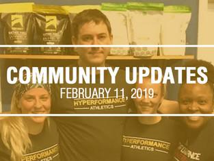 Community Updates - February 11th, 2019