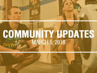 Community Updates March 5, 2018
