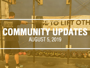 Community Updates - July 29th, 2019