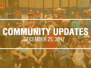 Community Updates December 26, 2017