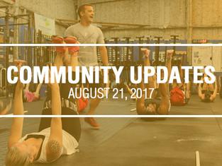 Community Updates August 21, 2017