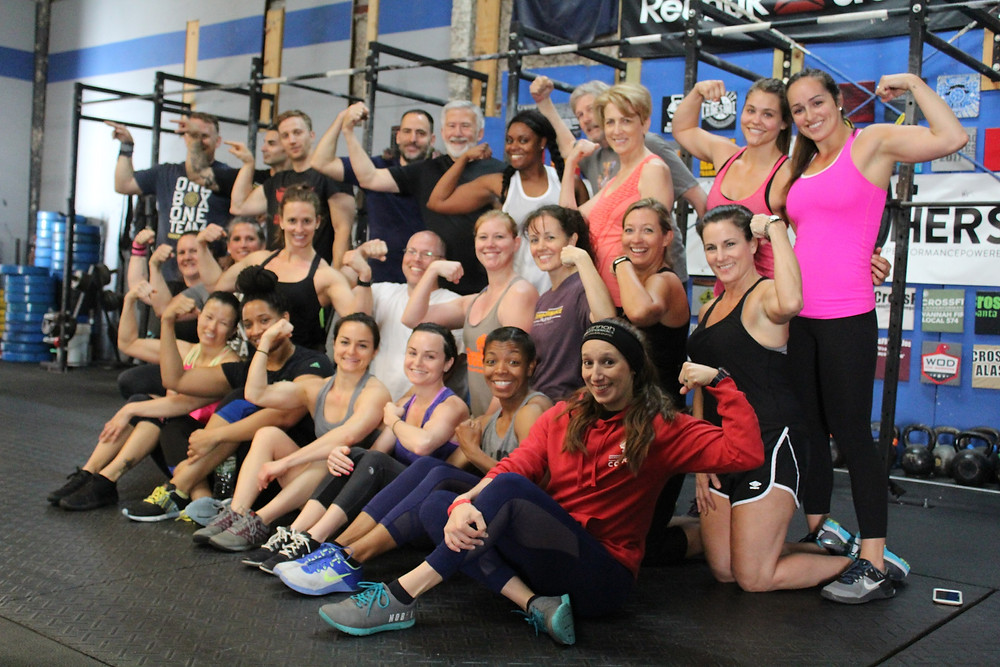 Our small group fundamentals grads are ready to join in crossfit classes.