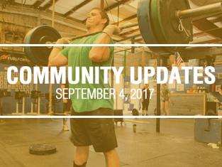 Community Updates September 4, 2017