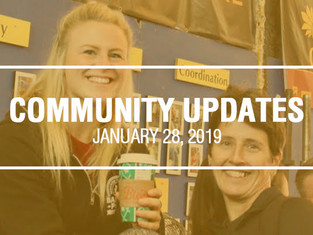 Community Updates - January 28, 2019