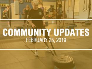 Community Updates - February 25th, 2019