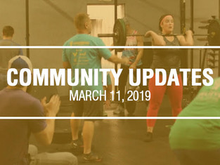 Community Updates - March 11th, 2019