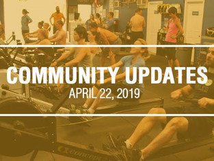 Community Updates - April 22nd, 2019