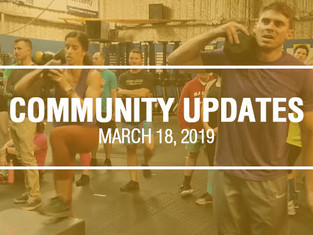 Community Updates - March 18th, 2019