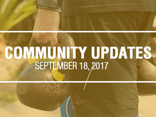Community Updates September 18, 2017