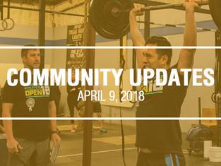 Community Updates April 9, 2018