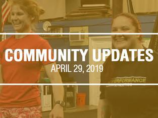 Community Updates - April 29th, 2019