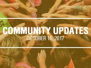 Community Updates October 16, 2017