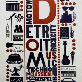 Detroit Music Poster