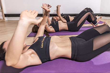 Women practicing Low Pressure Fitness hypopressive exerecise