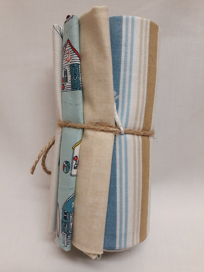 4 FQ Bundle - Seaside Stripe