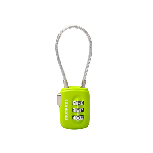 TSA-Approved Cable Lock in Lime