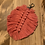 Thumbnail: Leaf Bag Charm - Punchy Pink