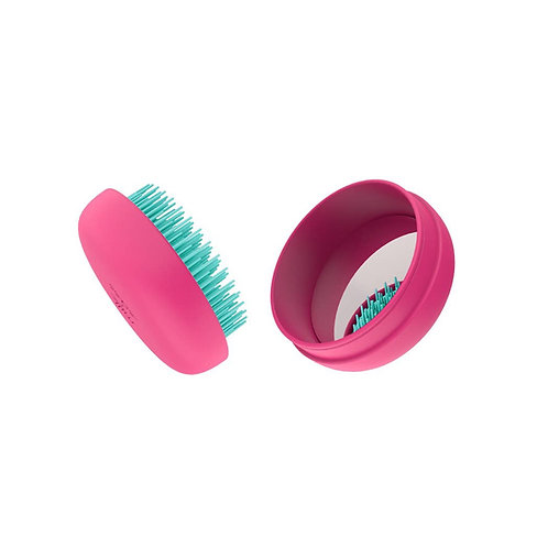 "Macaron Travel Hairbrush ""Tropical Pink"""