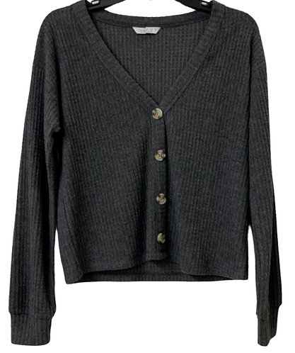 Charcoal Dust Waffle Knit