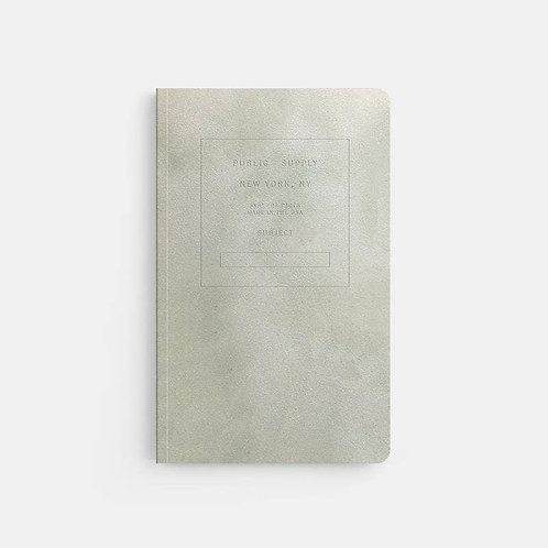 Grey Velvet Soft Cover Notebook Cover