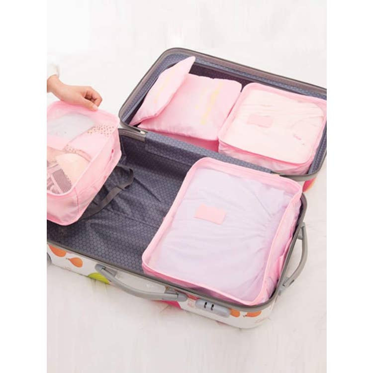 Fluff Gifts Pink Travel Cubes
