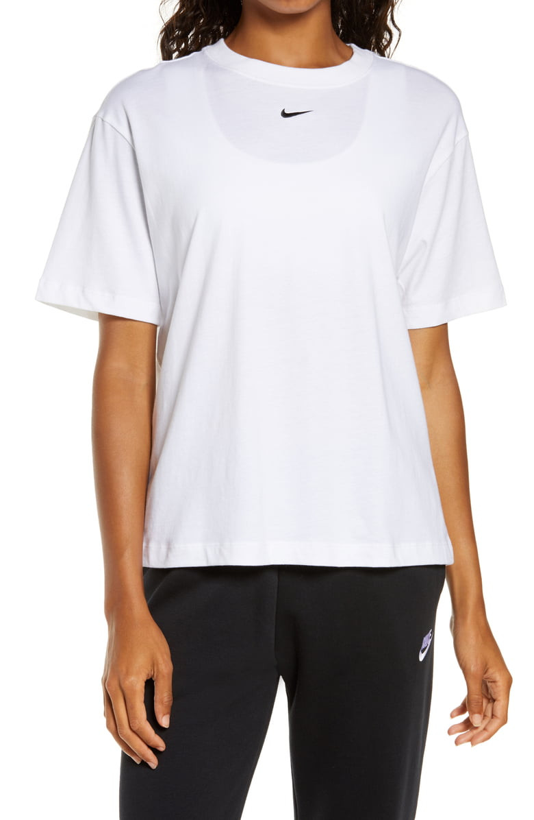 Embroidered Nike Swoosh Tee