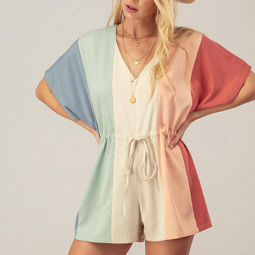 Multi-Colored Romper Front View