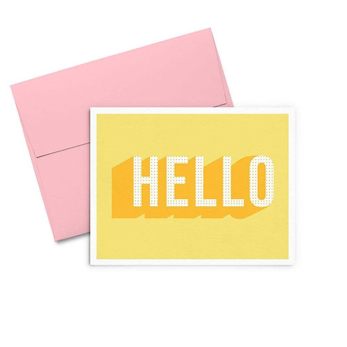 Yellow Hello Greeting Card