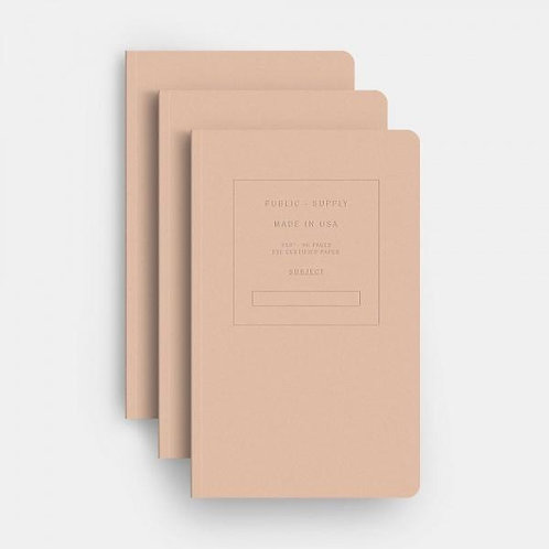 Pink Embossed Pocket Notebook Set of Three