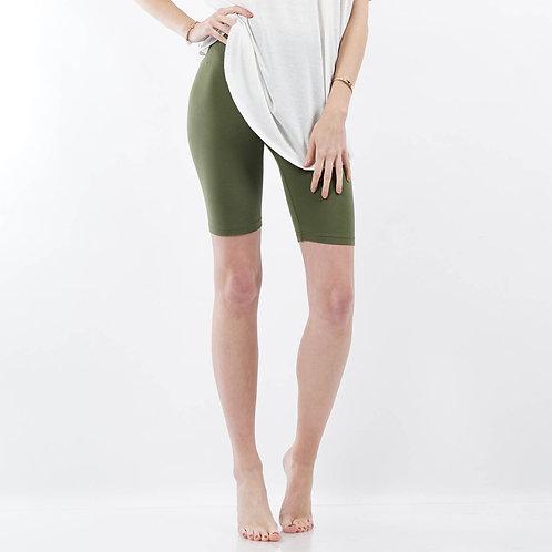 Olive Green Bike Shorts