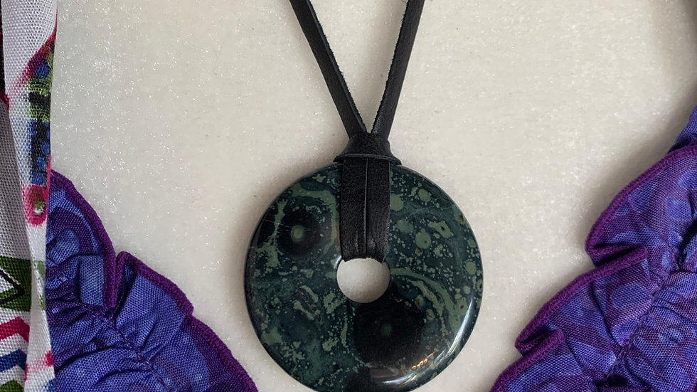 Kambaba Jasper donut necklace