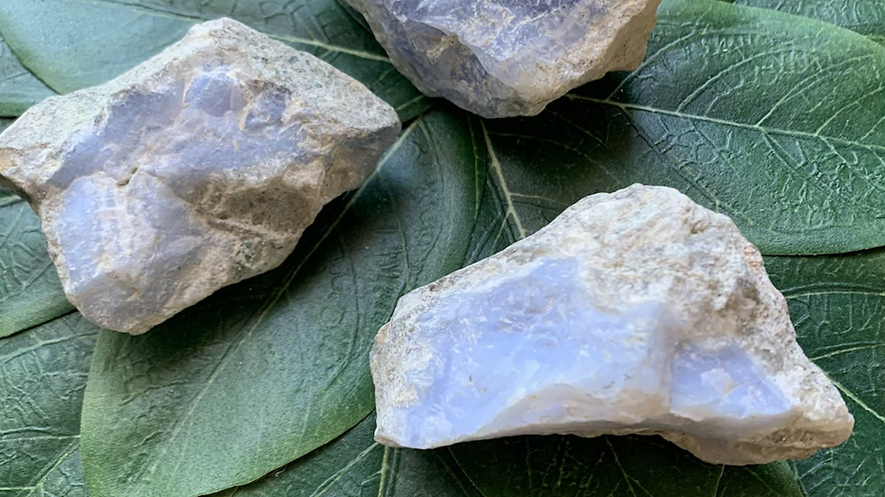 Raw Blue Lace Agate for inner peace and calm
